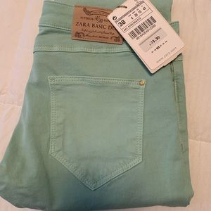 Zara Mint Green Pants - Size 6 (Zara Size 38)